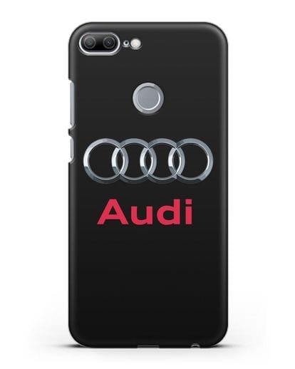 Чехол с логотипом Audi силикон черный для Honor 9 Lite