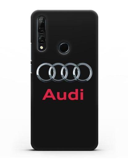 Чехол с логотипом Audi силикон черный для Honor 9X