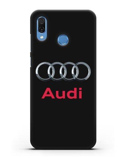 Чехол с логотипом Audi силикон черный для Honor Play
