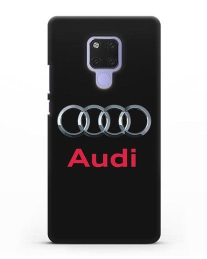 Чехол с логотипом Audi силикон черный для Huawei Mate 20X