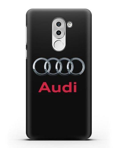 Чехол с логотипом Audi силикон черный для Huawei Mate 9 Lite