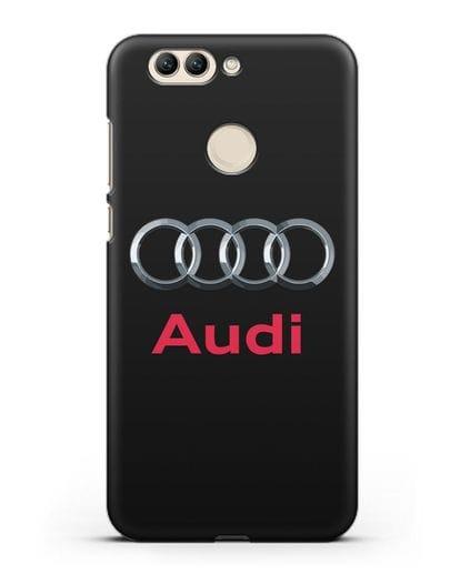 Чехол с логотипом Audi силикон черный для Huawei Nova 2 Plus