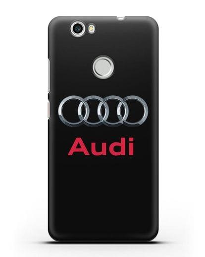 Чехол с логотипом Audi силикон черный для Huawei Nova