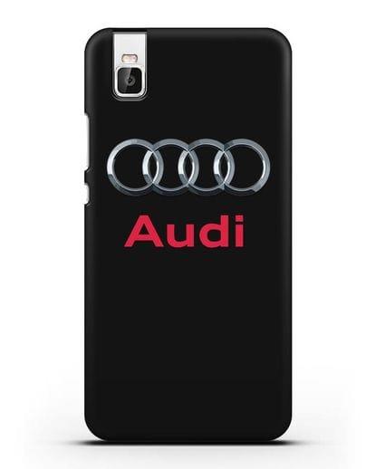 Чехол с логотипом Audi силикон черный для Huawei Shot X