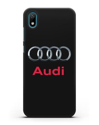 Чехол с логотипом Audi силикон черный для Huawei Y5 2019