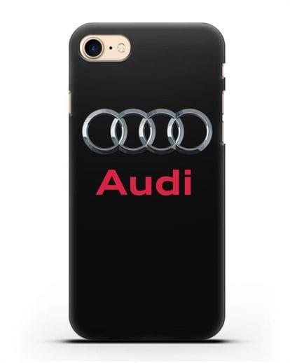 Чехол с логотипом Audi силикон черный для iPhone 7