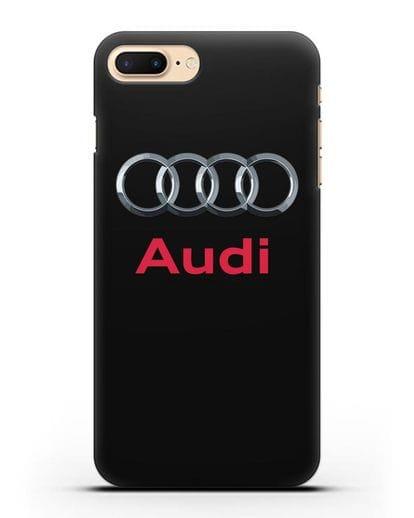 Чехол с логотипом Audi силикон черный для iPhone 7 Plus
