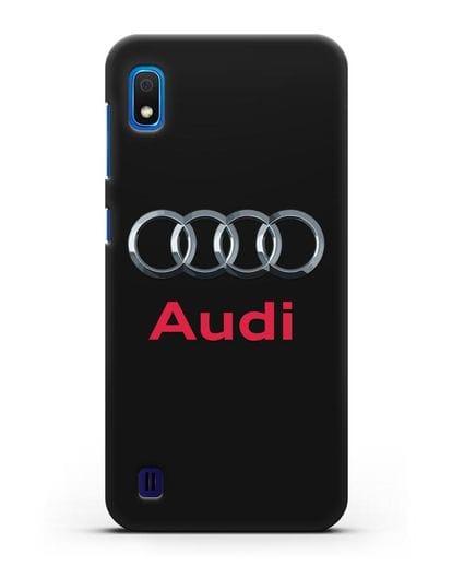 Чехол с логотипом Audi силикон черный для Samsung Galaxy A10 [SM-A105F]