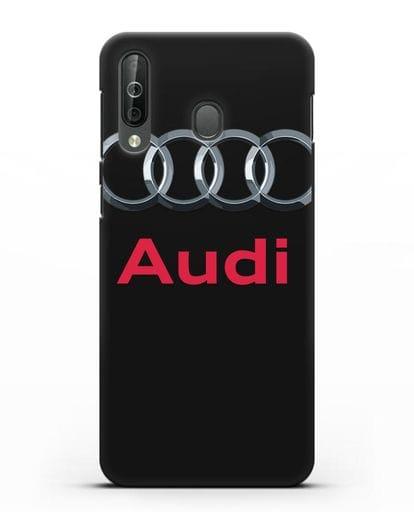 Чехол с логотипом Audi силикон черный для Samsung Galaxy A40s [SM-A507FN]
