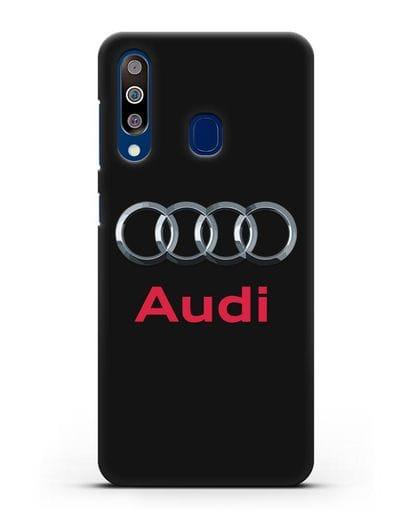 Чехол с логотипом Audi силикон черный для Samsung Galaxy A60 [SM-A606F]