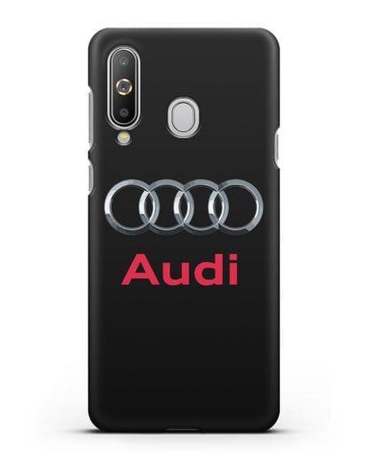 Чехол с логотипом Audi силикон черный для Samsung Galaxy A8s [SM-G8870]