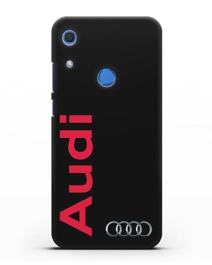 Чехол с надписью Audi и логотипом силикон черный для Huawei Y6s