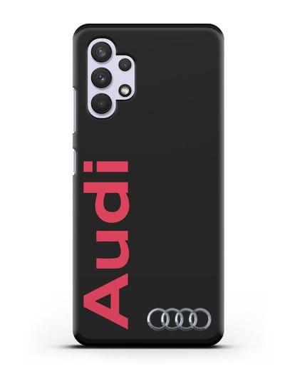 Чехол с надписью Audi и логотипом силикон черный для Samsung Galaxy A32 [SM-A325F]
