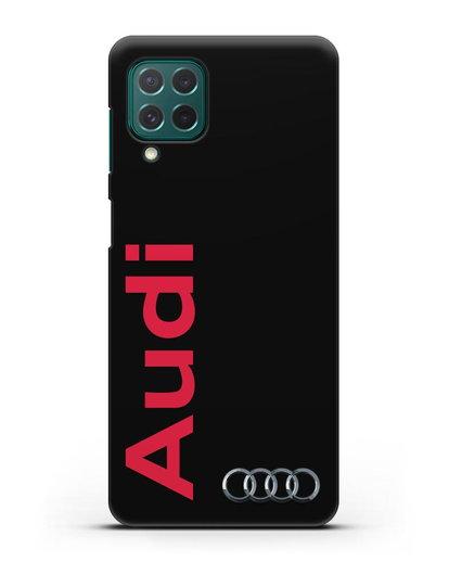 Чехол с надписью Audi и логотипом силикон черный для Samsung Galaxy M62 [SM-M625F]