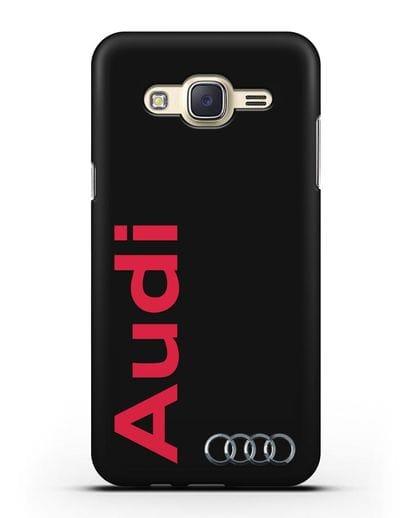 Чехол с надписью Audi и логотипом силикон черный для Samsung Galaxy J7 2015 [SM-J700H]