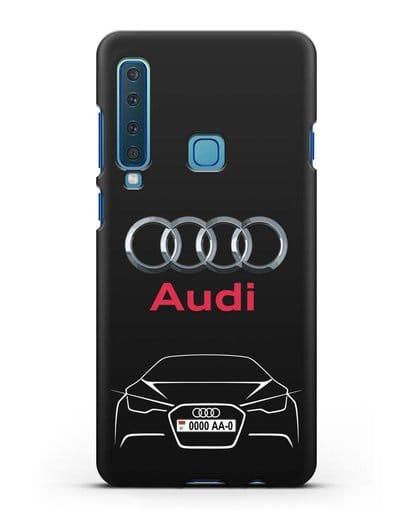 Чехол Audi с автомобильным номером силикон черный для Samsung Galaxy A9 (2018) [SM-A920]