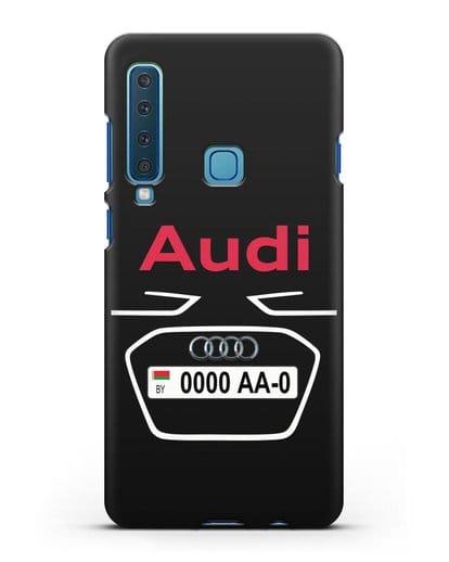 Чехол Ауди с номерным знаком силикон черный для Samsung Galaxy A9 (2018) [SM-A920]