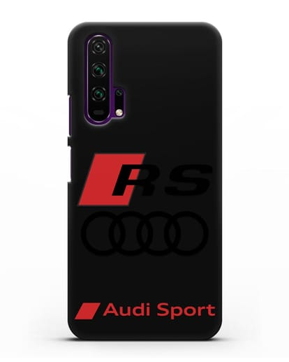 Чехол с логотипом Audi RS Sport силикон черный для Honor 20 Pro