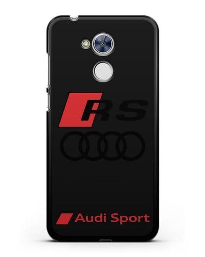 Чехол с логотипом Audi RS Sport силикон черный для Honor 6A