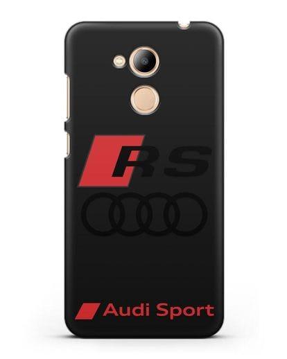 Чехол с логотипом Audi RS Sport силикон черный для Honor 6C Pro