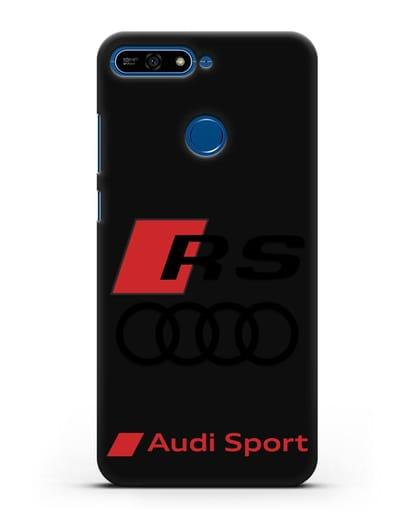Чехол с логотипом Audi RS Sport силикон черный для Honor 7А Pro