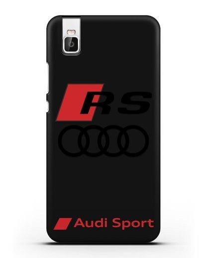 Чехол с логотипом Audi RS Sport силикон черный для Honor 7i