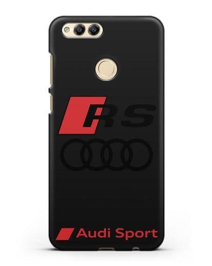 Чехол с логотипом Audi RS Sport силикон черный для Honor 7X