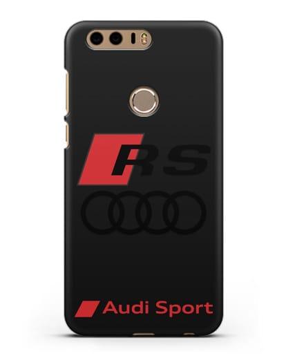Чехол с логотипом Audi RS Sport силикон черный для Honor 8