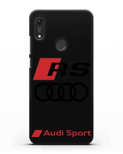 Чехол с логотипом Audi RS Sport силикон черный для Honor 8A Prime