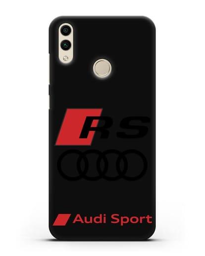 Чехол с логотипом Audi RS Sport силикон черный для Honor 8C