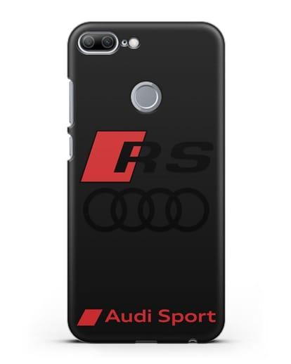 Чехол с логотипом Audi RS Sport силикон черный для Honor 9 Lite