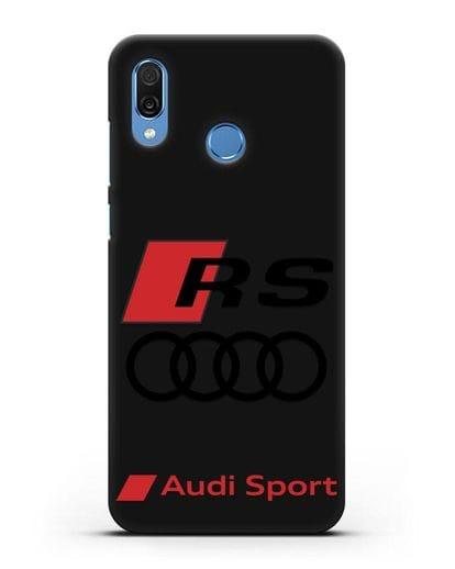Чехол с логотипом Audi RS Sport силикон черный для Honor Play
