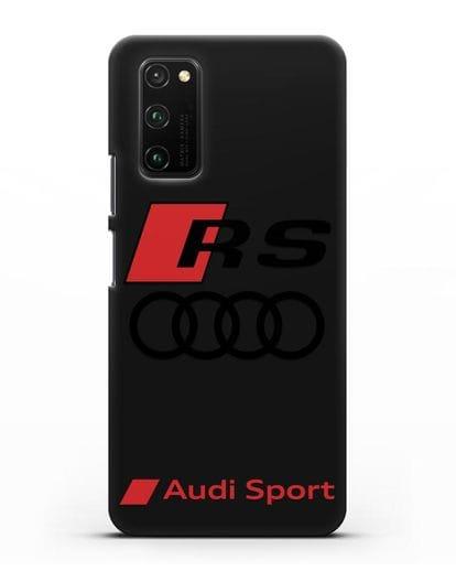Чехол с логотипом Audi RS Sport силикон черный для Honor View 30 Pro