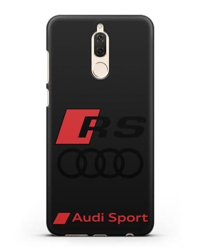 Чехол с логотипом Audi RS Sport силикон черный для Huawei Mate 10 Lite