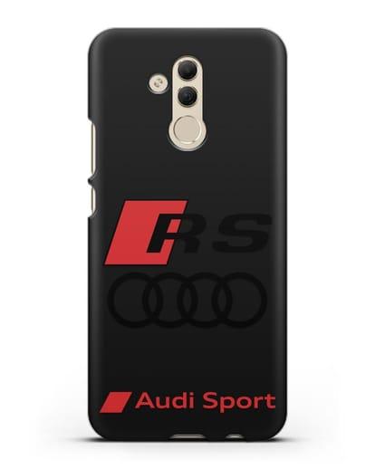 Чехол с логотипом Audi RS Sport силикон черный для Huawei Mate 20 Lite