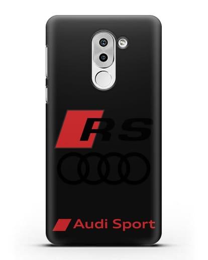 Чехол с логотипом Audi RS Sport силикон черный для Huawei Mate 9 Lite