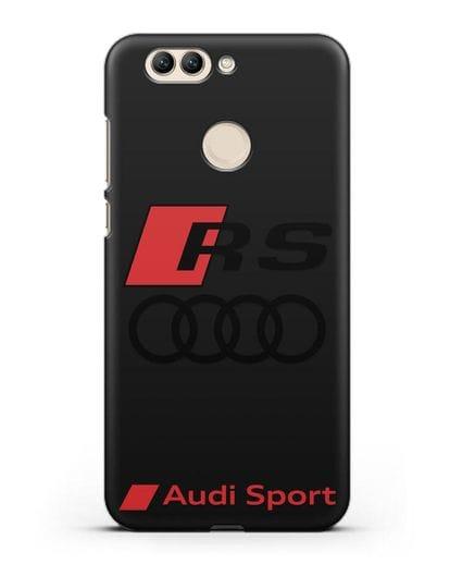 Чехол с логотипом Audi RS Sport силикон черный для Huawei Nova 2 Plus