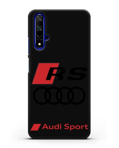 Чехол с логотипом Audi RS Sport силикон черный для Huawei Nova 5T