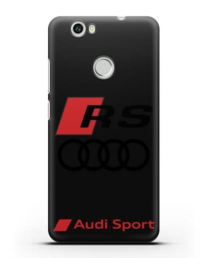 Чехол с логотипом Audi RS Sport силикон черный для Huawei Nova