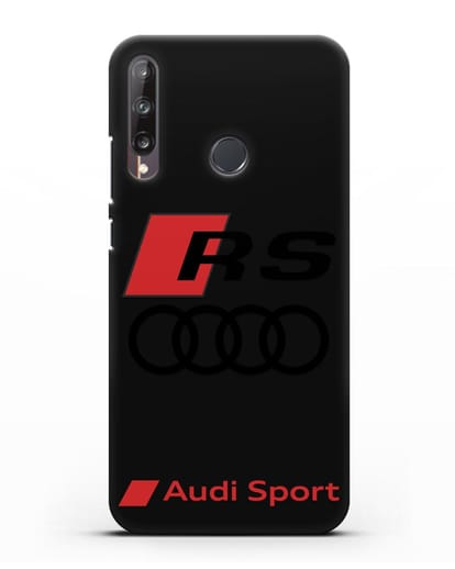 Чехол с логотипом Audi RS Sport силикон черный для Huawei P40 lite E