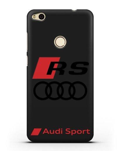 Чехол с логотипом Audi RS Sport силикон черный для Huawei P8 Lite 2017