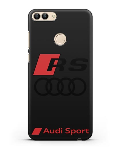 Чехол с логотипом Audi RS Sport силикон черный для Huawei P Smart
