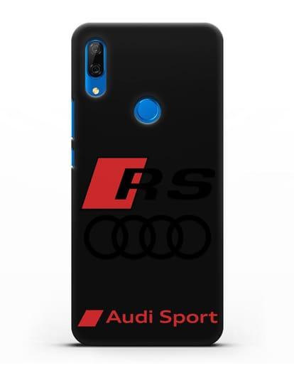 Чехол с логотипом Audi RS Sport силикон черный для Huawei P Smart Z