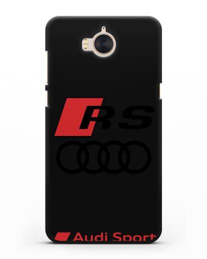 Чехол с логотипом Audi RS Sport силикон черный для Huawei Y5 2017