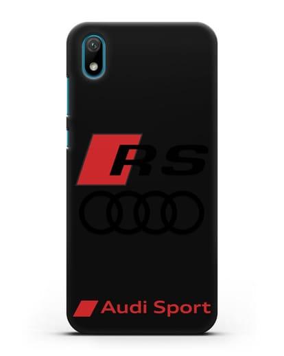 Чехол с логотипом Audi RS Sport силикон черный для Huawei Y5 2019