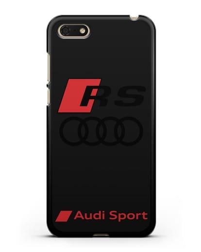 Чехол с логотипом Audi RS Sport силикон черный для Huawei Y5 Prime 2018