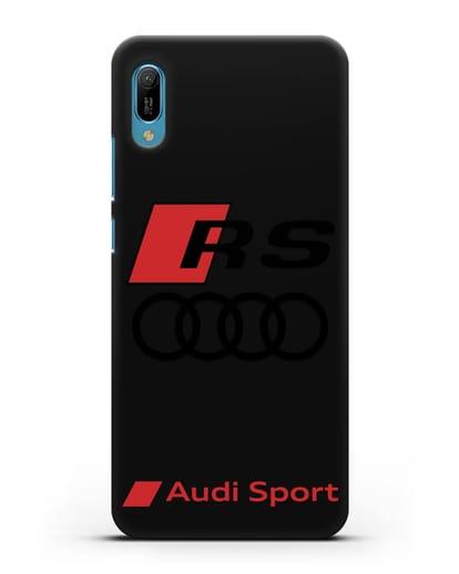 Чехол с логотипом Audi RS Sport силикон черный для Huawei Y6 2019
