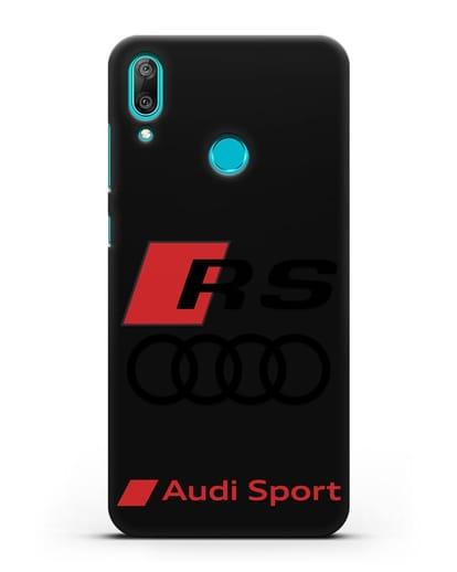 Чехол с логотипом Audi RS Sport силикон черный для Huawei Y7 2019
