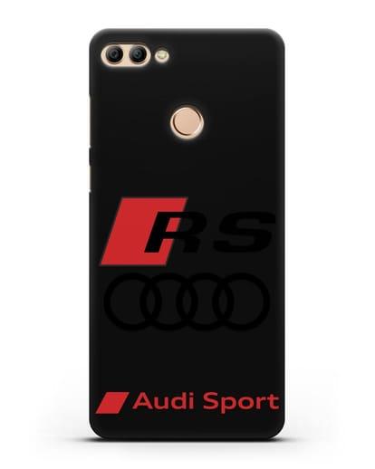 Чехол с логотипом Audi RS Sport силикон черный для Huawei Y9 2018