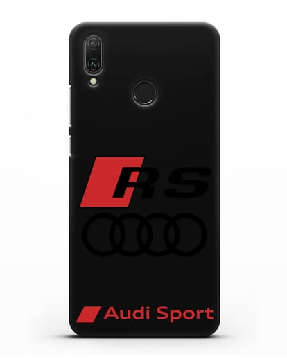 Чехол с логотипом Audi RS Sport силикон черный для Huawei Y9 2019